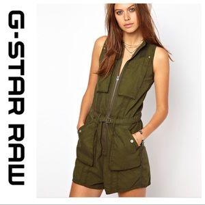 💕SALE💕G-Star Raw Army Green Cargo Shorts Romper